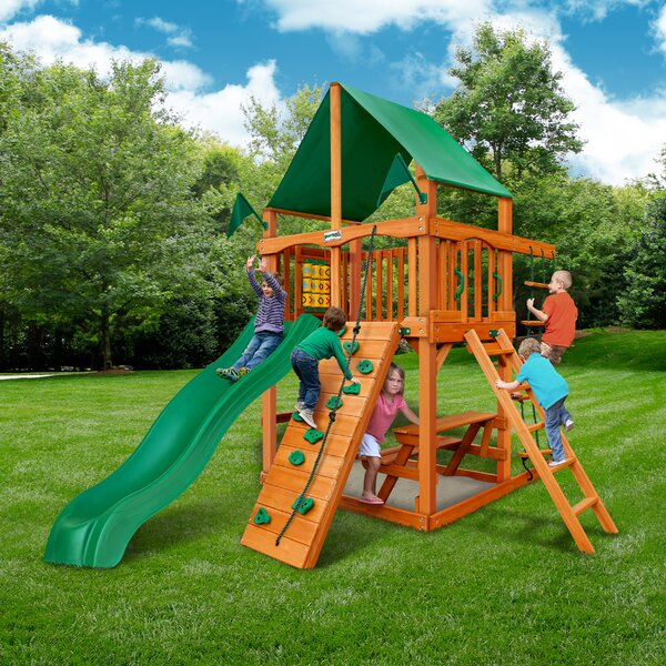 Chateau Tower Swing Set by Gorilla Playsets