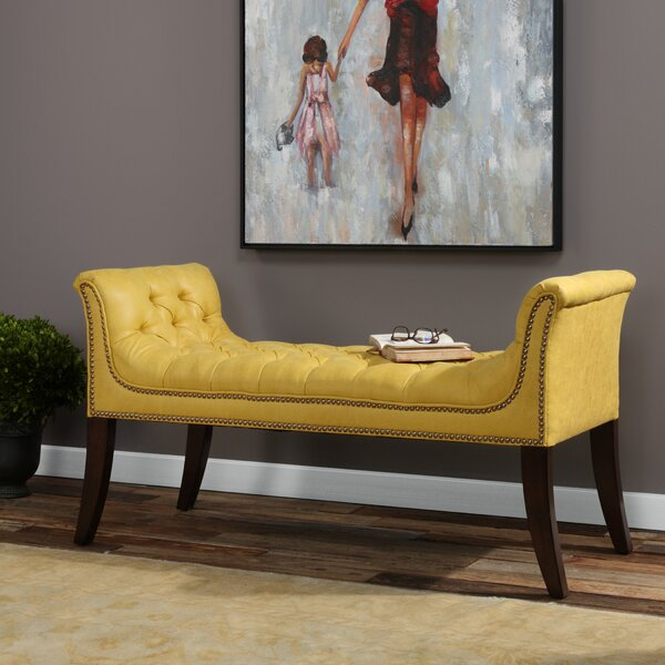 Sumiko Upholstered Bench by Everly Quinn