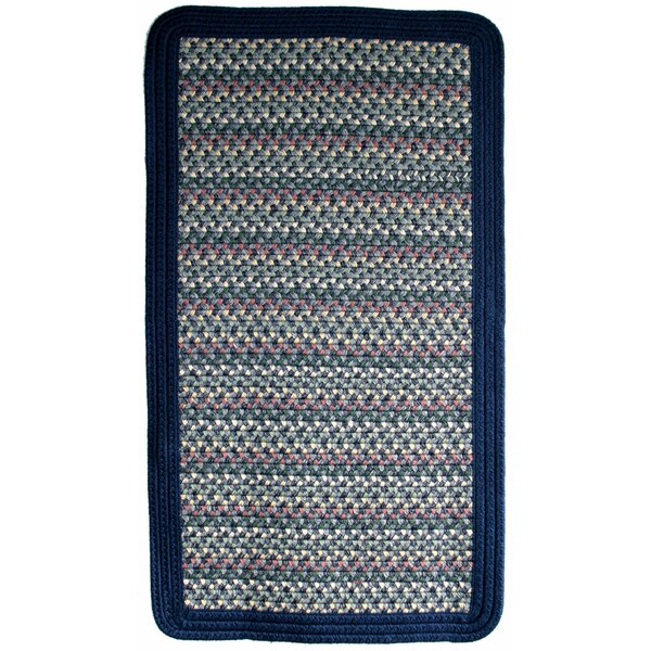 Pioneer Valley II Meadowland Blue with Dark Blue Solids Multi Square Rug by Thorndike Mills