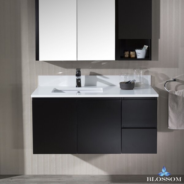 Maly 42 Wall Mounted Single Bathroom Vanity Set with Mirror by Orren Ellis