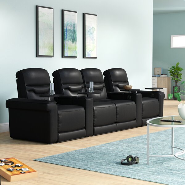 Leather Home Theater Configurable Seating By Orren Ellis