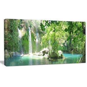'Kursunlu Waterfalls Antalya' Photographic Print on Wrapped Canvas by Design Art