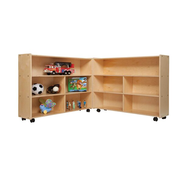 Clarendon Folding 10 Compartment Shelving Unit by Symple Stuff