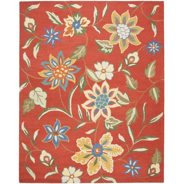Canon Hand-Hooked Rust Area Rug by August Grove
