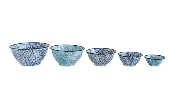 Urban Homestead 5 Piece Enamel Mixing Bowl Set by Creative Co-Op