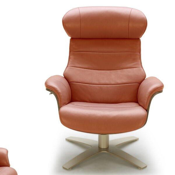 Dakota Swivel Lounge Chair and Ottoman by Corrigan Studio