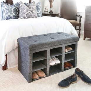 Top Reviews Foldable Tufted 9 Pair Shoe Storage Bench ByWinston Porter