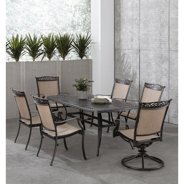 Bucher 7 Piece Outdoor Dining Set by Fleur De Lis Living