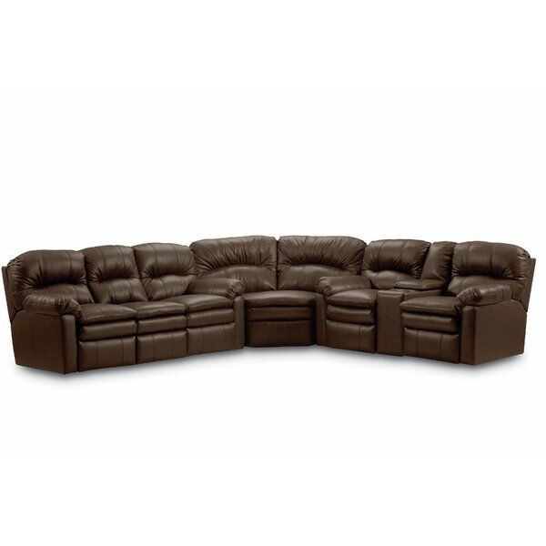 Dellbrook Leather Reversible Reclining Sectional by Red Barrel Studio
