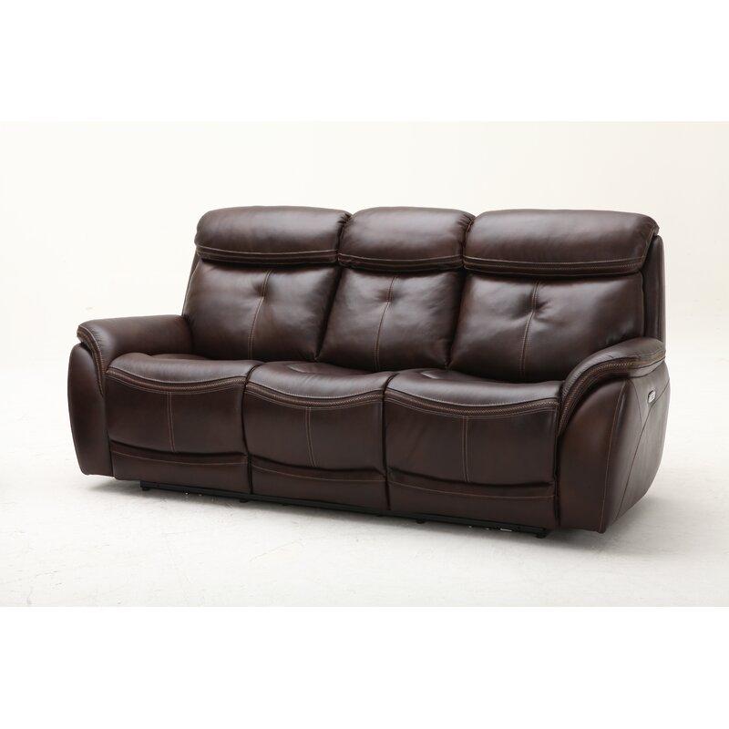 Homerun Leather Reclining Sofa