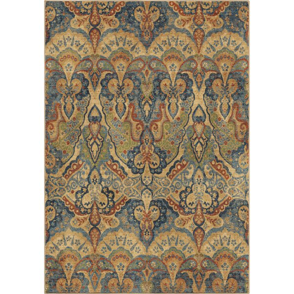 Ponce Beige/Green/Blue Area Rug by Bloomsbury Market
