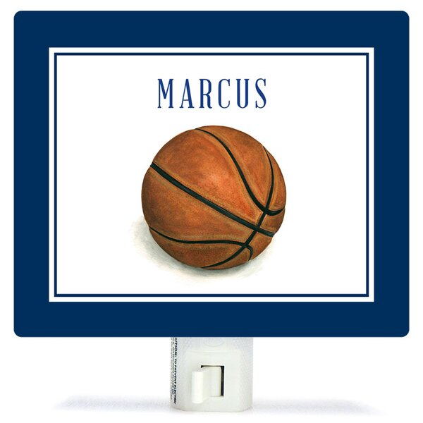Personalized Sports and Games Basketball Canvas Night Light by Oopsy Daisy
