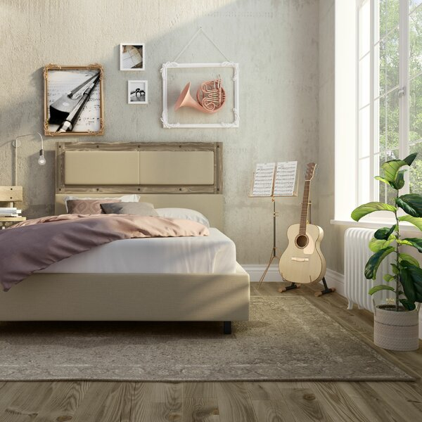 Ternes Upholstered Platform Bed by Union Rustic