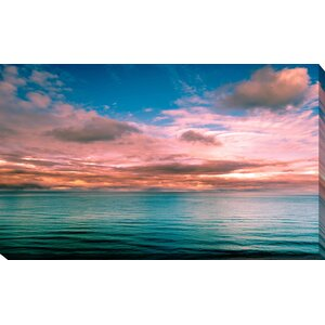 'Sunset View of a Sea Horizon' Photographic Print on Wrapped Canvas by Picture Perfect International