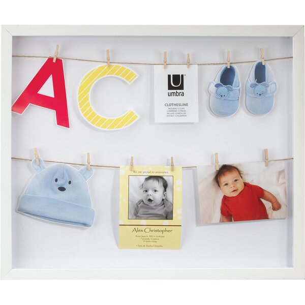 Clothesline Shadowbox Wall Frame by Umbra