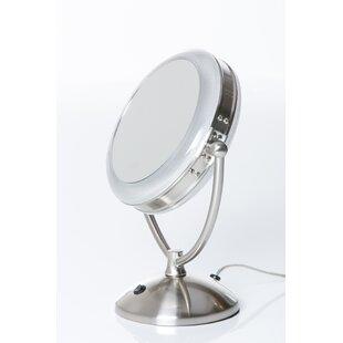Comparison Magnification Daylight Cosmetic Mirror ByFloxite