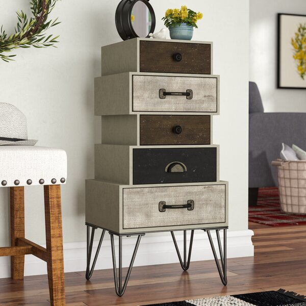 Selma Wood and Metal 5 Drawer Accent Chest by Laurel Foundry Modern Farmhouse