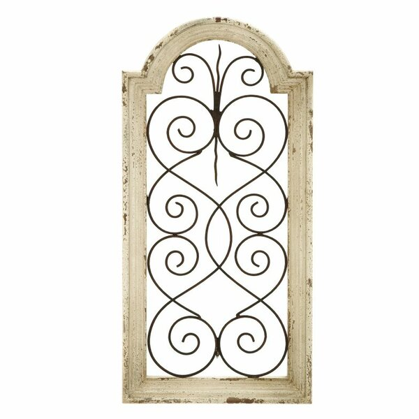 Wood And Iron Wall Decor lark manor ivory wood/metal wall décor & reviews | wayfair
