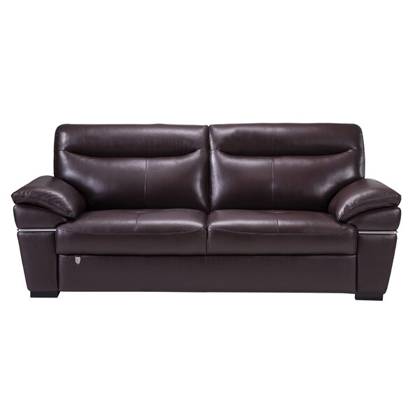 Victor Harbor Leather Sofa By Latitude Run