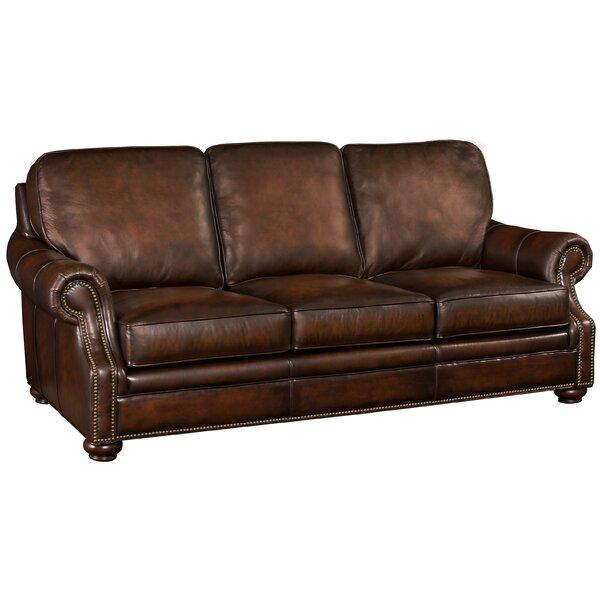 Hooker Leather Sofa by Hooker Furniture