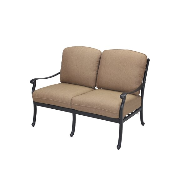 Cardin Loveseat with Cushions by Darby Home Co