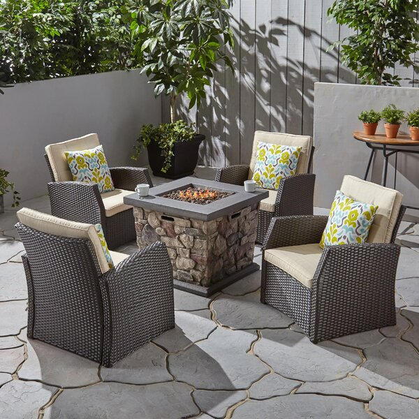 Havana 5 Piece Multiple Chairs Seating Group with Cushions by Gracie Oaks Gracie Oaks
