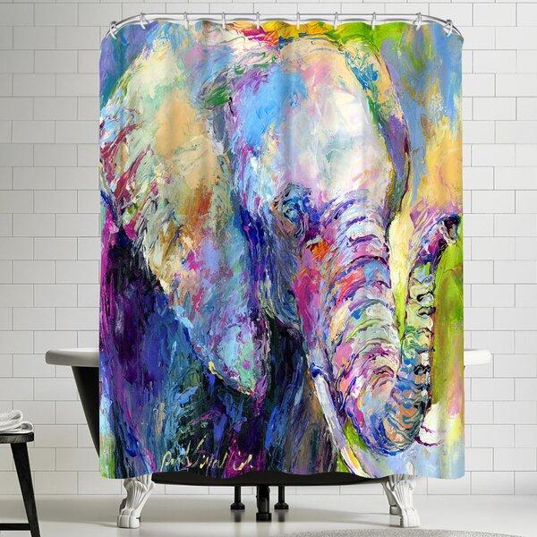 Richard Wallich Elephant Shower Curtain by East Urban Home