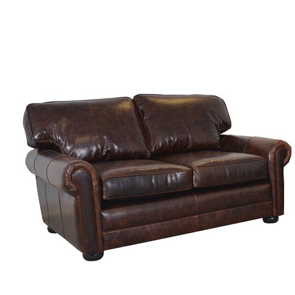 Fenway Studio Leather Loveseat by Westland and Birch
