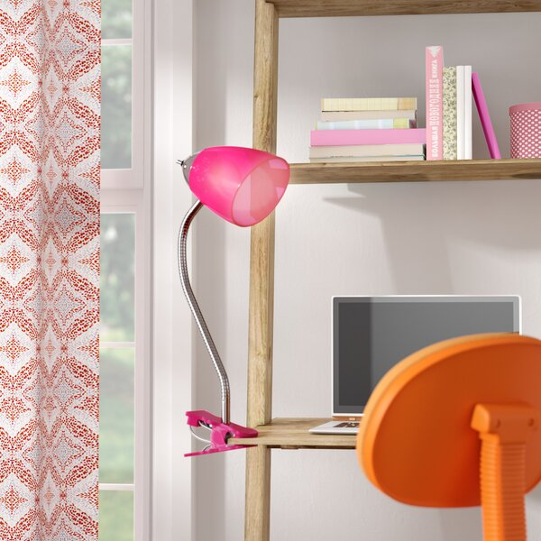 Saige Clip Desk Lamp by Zoomie Kids