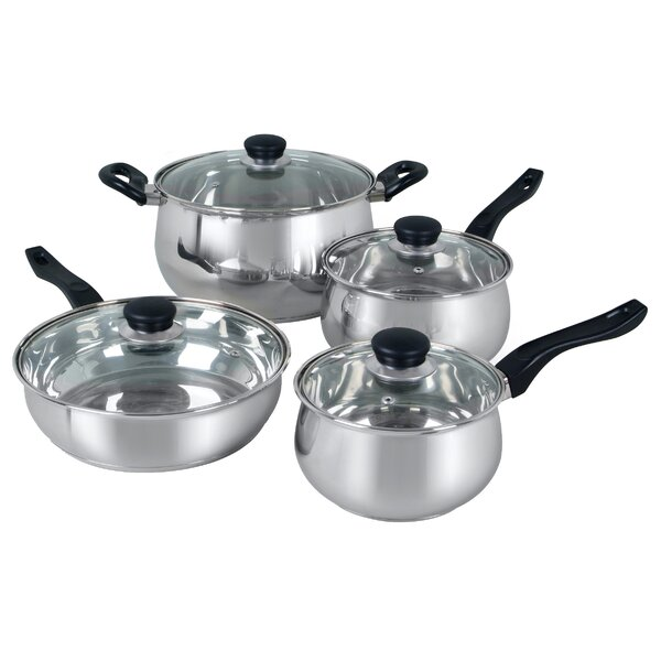 Rametto 8 Piece Cookware Set by Gibson