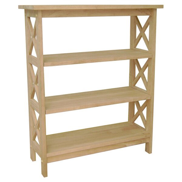 Unfinished Wood Etagere Bookcase by International Concepts