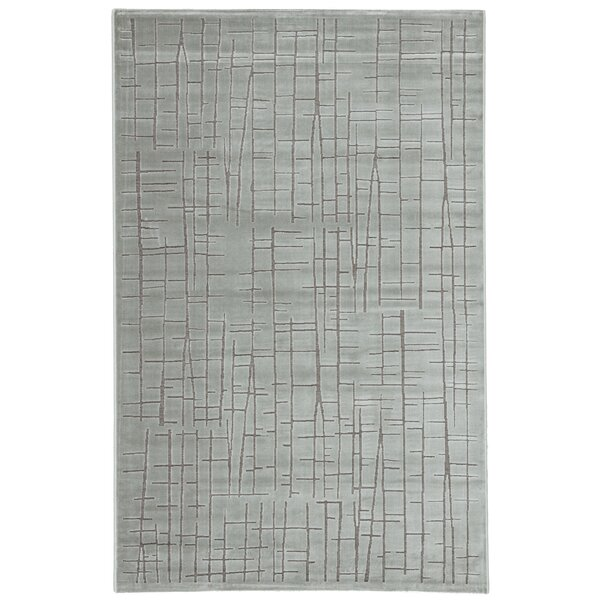 Eline Power-Loomed Silver Area Rug by Williston Forge
