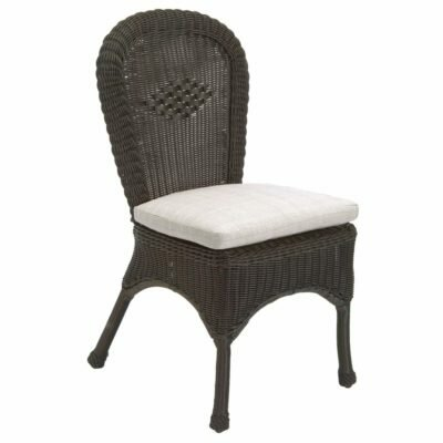 Classic Wicker Patio Dining Chair with Cushion by Summer Classics Summer Classics