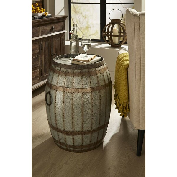 Waldo Wine Barrel End Table by Williston Forge