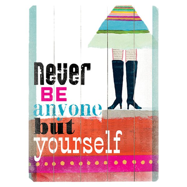 Be Yourself Textual Art Multi-Piece Image on Wood by Artehouse LLC