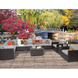 Belle 11 Piece Sectional Seating Group with Cushions By TK Classics