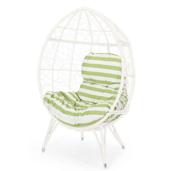 Mabel Wicker Teardrop Swing Chair by Bloomsbury Market