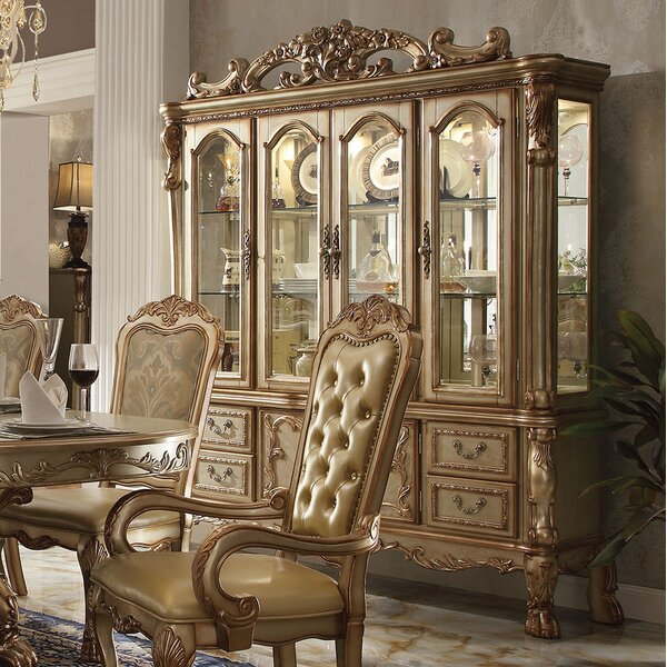 Dresden Lighted China Cabinet by A&J Homes Studio