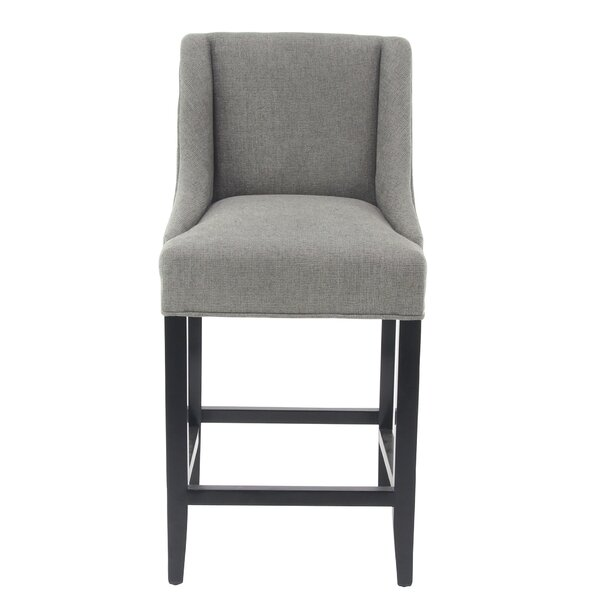 Aahil Eclectic Chenille Center 25 Bar Stool by Alcott Hill