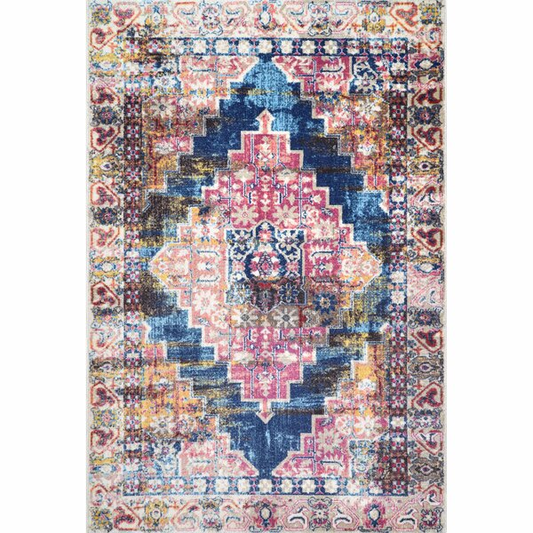Hersche Pink/Blue Area Rug by Bungalow Rose