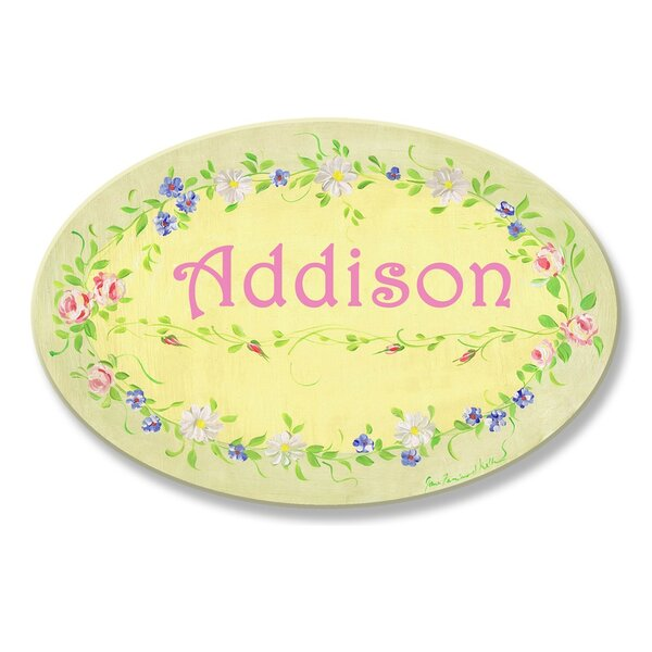 Kids Room Personalization Floral Wall Plaque by Stupell Industries
