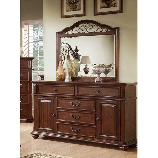 Lorrenzia 5 Drawer Combo Dresser with Mirror by Hokku Designs