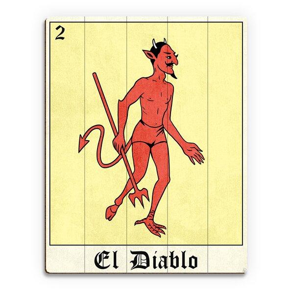 El Diablo Graphic Art on Plaque by Click Wall Art