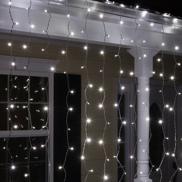 150 Cool White 5mm LED Icicle Light Set by The Holiday Aisle