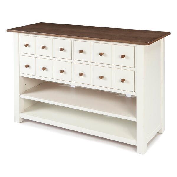Culley Sofa Table With Four Drawers, One Adjustable Shelf, One Fixed Shelf By August Grove