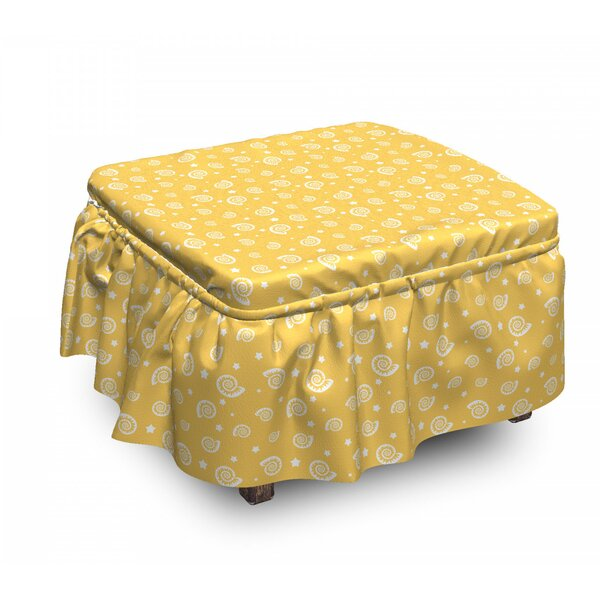 Stars And Mollusk Ottoman Slipcover (Set Of 2) By East Urban Home