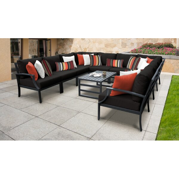 Benner 11 Piece Sectional Seating Group with Cushions by Ivy Bronx Ivy Bronx
