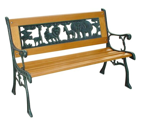 Kiddie Safari Cast Iron Park Bench by DC America