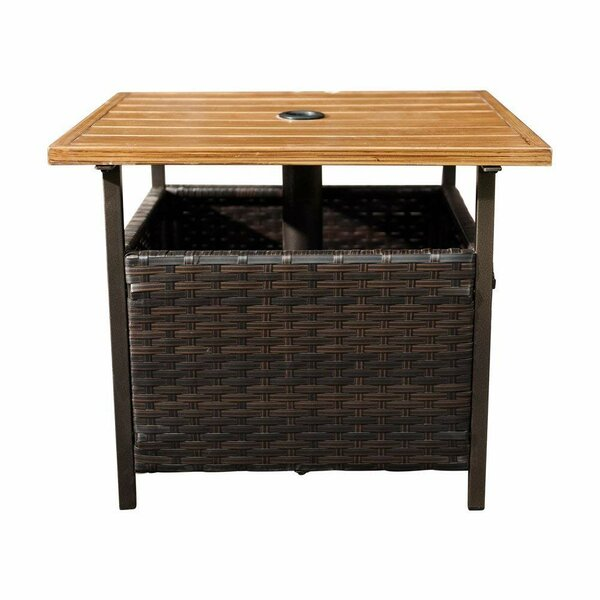 Gorgas Wicker Side Table by Bay Isle Home