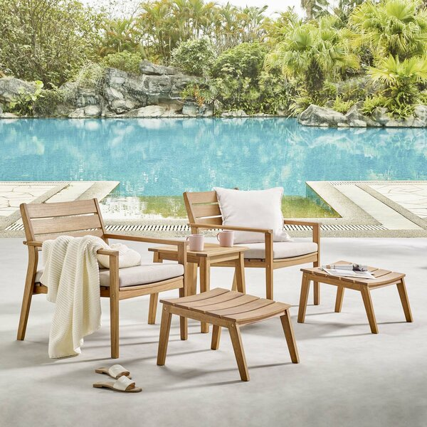 Emrys 5 Piece Seating Group with Cushions by Rosecliff Heights